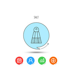 salt icon sodium spice sign vector image