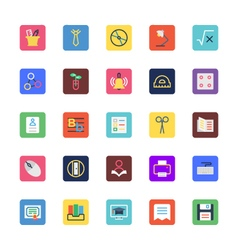 School and Education Colored Icons 3 vector image