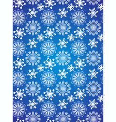 Seamless snowflake background vector