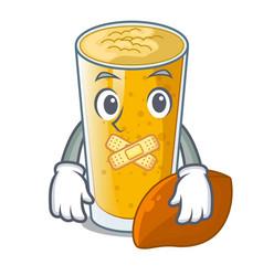 Silent lassi mango in the character fridge vector