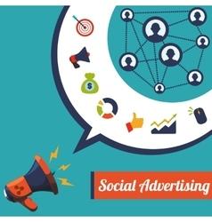 Social Advertising and Digital Marketing design vector image