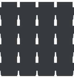 Straight black alcohol pattern vector image