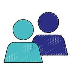 Teamwork avatars isolated icon vector