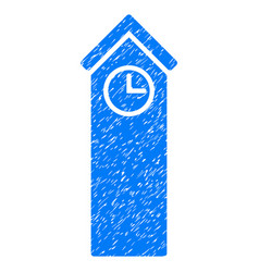 Time tower grunge icon vector