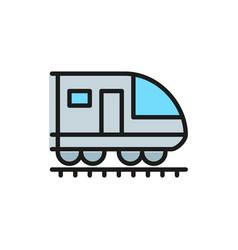 train subway locomotive railroad flat color vector image
