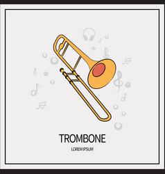 Trombone isolated icon vector
