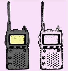 walkie talkie vector image