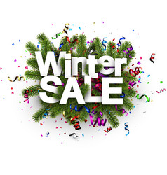 winter sale background with serpentine vector image