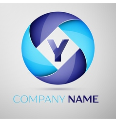 Y letter colorful logo in the circle template for vector