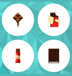 Flat icon sweet set of delicious sweet shaped vector