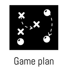 game plan icon simple black style vector image