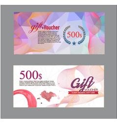 gift voucher vector image