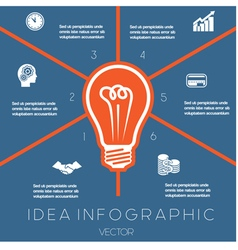 Idea Business Concept Light bulb infographic 6 vector image vector image