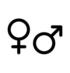 Men and women pictograms Mars Venus icons vector image
