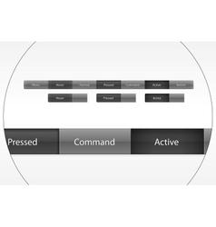 site menu buttons vector image