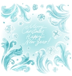 abstract frozen ice texture on winter window vector image