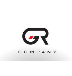 gr logo letter design vector image vector image