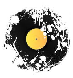 Grunge vinyl disc vector