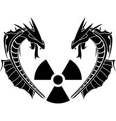 radiation reptiles vector image vector image