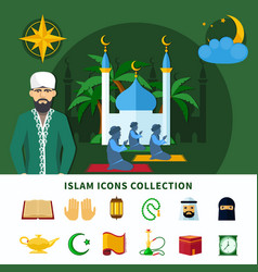 religions icon set vector image