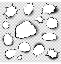 Set of comic style speech bubbles EPS 10 vector image