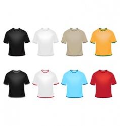 set of t-shirts vector image vector image