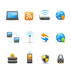 wireless communications vector image vector image