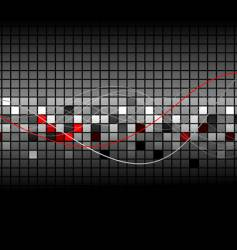 abstract graph vector image vector image