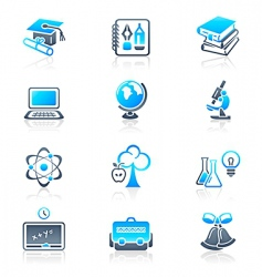 education objects icons marine series vector image vector image