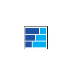 f block logo design vector image vector image