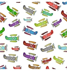 airplane pattern on a white background vector image