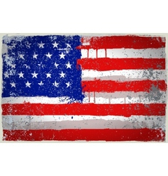 color USA paint flag vector image vector image