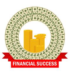 financial success template vector image