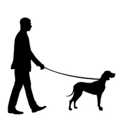 man with dog vector image