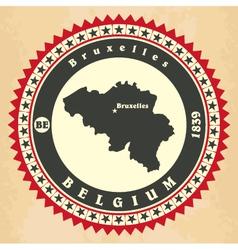 Vintage label-sticker cards of Belgium vector image vector image