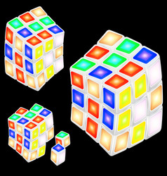 Abstract rubiks cubes vector