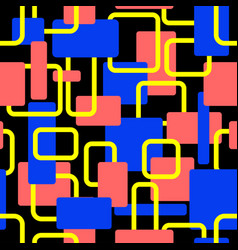 Abstract squares seamless pop art pattern vector