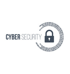 abstract technology concept cyber security with vector image