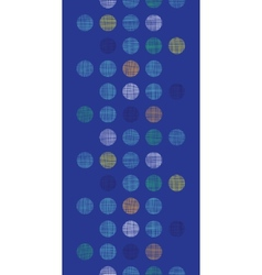 Abstract textile polka dots on blue vertical vector image