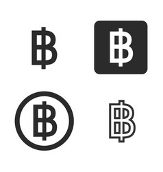 Baht currency symbol set vector