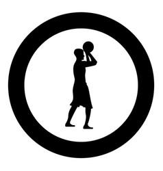 basketball player throws a basketball man vector image