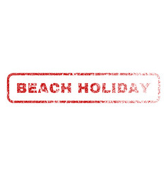 beach holiday rubber stamp vector image