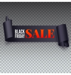 Black Friday Sale twisted banner vector