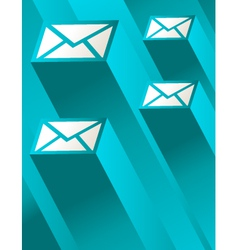 Blue Mail vector image