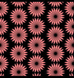 bright floral seamless pattern modern vector image