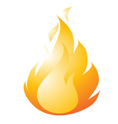 burning fire drawing in a flat style isolated on a vector image