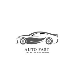 car service logo design template vector image