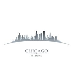 Chicago Illinois city skyline silhouette vector