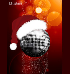Christmas festive glowing background with disco vector