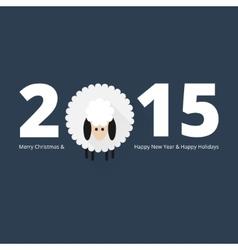 Christmas sheep greeting card vector